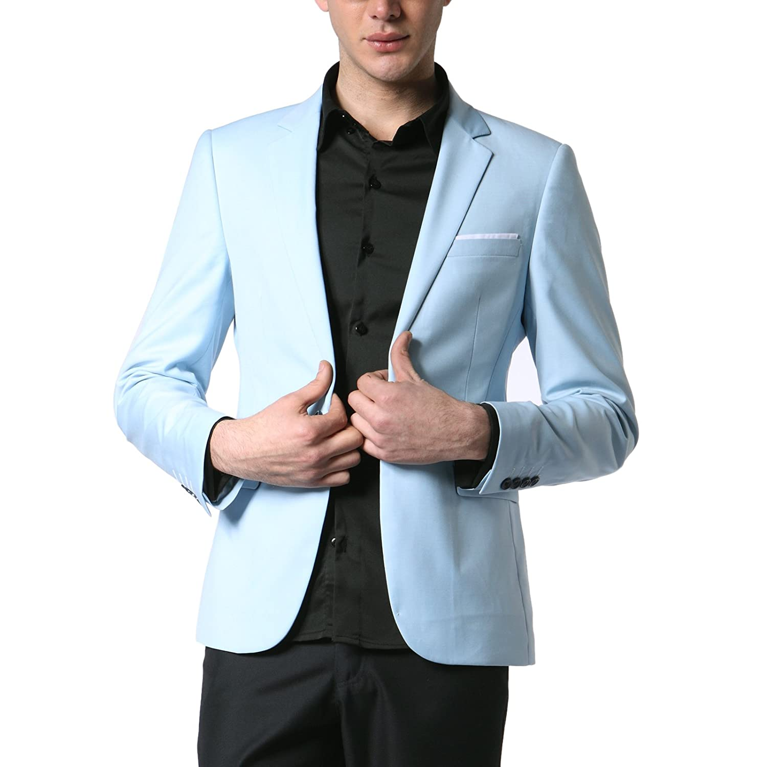 Doublju Mens Casual OneButton Blazer Jacket