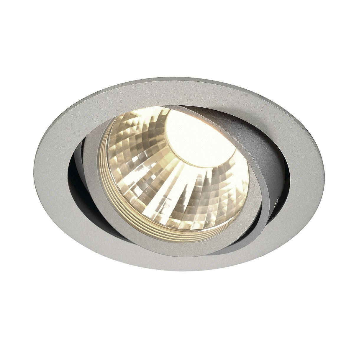 SLV New Tria LED Disk Downlight, Rund, 2700 K, 35 Grad, silbergrau 113584