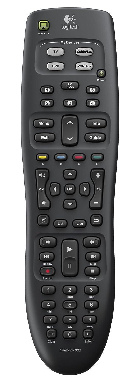logitech harmony 300 universal remote control. Black Bedroom Furniture Sets. Home Design Ideas