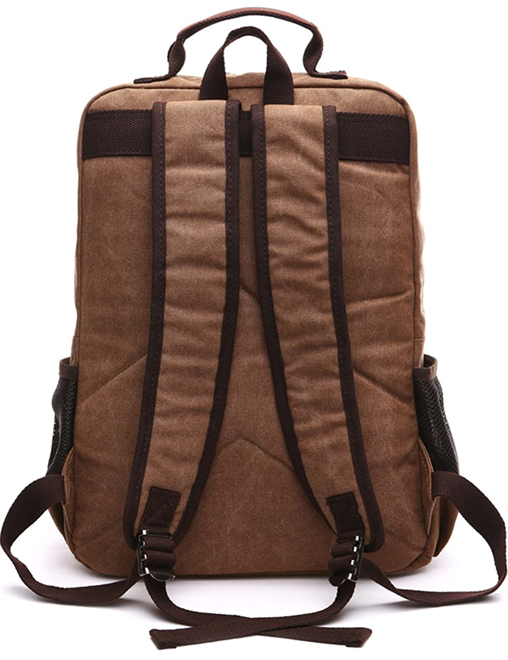 Aidonger Vintage Canvas School Backpack Laptop Backpack 3