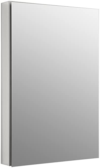 Kohler K-2943-PG-SAA Catalan Mirrored Cabinet with 170° Hinge, Satin Anodized Aluminum
