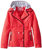 Dollhouse Big Girls'  Quilted Midweight Jacket with Detachable Hood