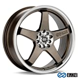 ENKEI - ev5 - 17 Inch Rim x 7 - (4x100/4x4.5) Offset (45) Wheel Finish - matte bronze with machined lip (Color: Bronze, Tamaño: 17x7)