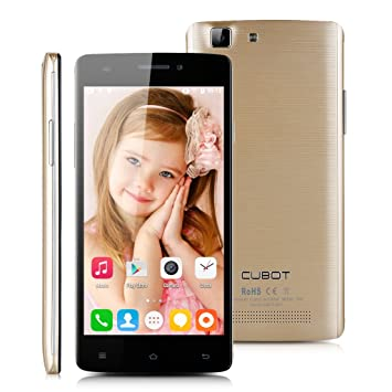 """CUBOT X12 LTE 4G Smartphone Débloqué 5.0"""" Android 5.1 Quad Core 64bit MTK6735 1.0GHz 1Go + 8Go caméras 5.0MP & 2.0MP Réseau 4G/3G/2G Double SIM - SFR BOUYGUES ORANGE VIRGIN Mobile Compatible - Or"""
