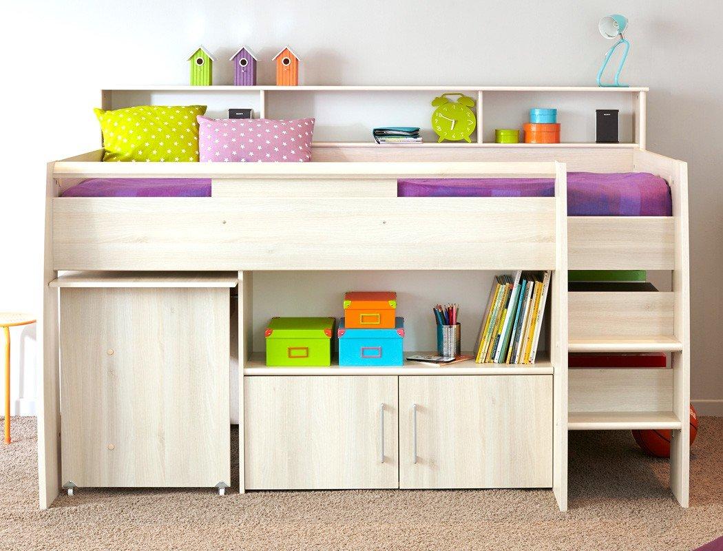 Hochbett Chiron 2 Akazie Nb 211x132x130/213 cm Liegefläche 90×200 Schreibtisch Kinderbett Bett Kinderzimmer Jugendzimmer günstig online kaufen