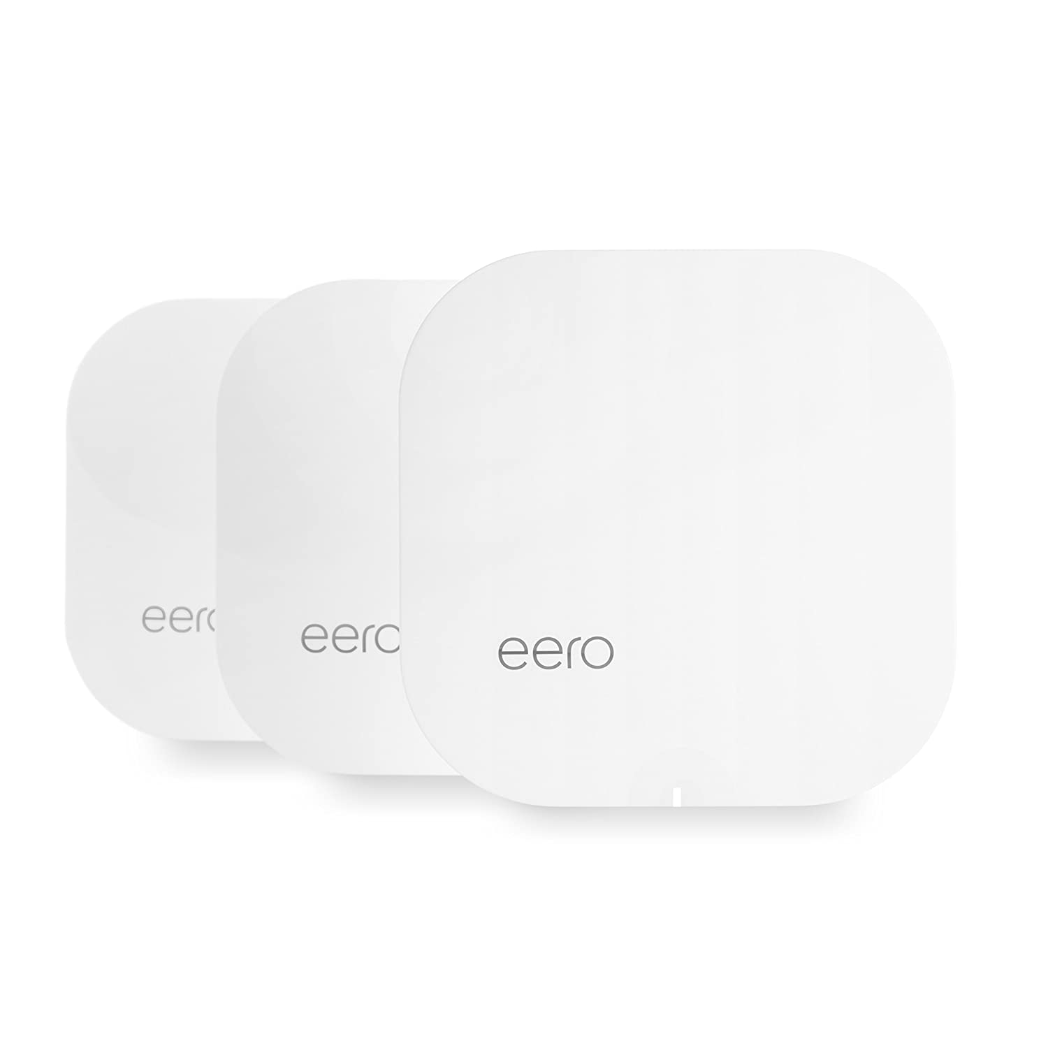eero Home WiFi System (Pack of 3) - Complete WiFi Range Extender and Wireless Router Replacement System, Gigabit Speed, WPA2 Encryption