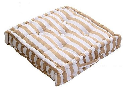 8 homescapes coussin de chaise chaise rayures paisses de couleurs couleurs beige et. Black Bedroom Furniture Sets. Home Design Ideas