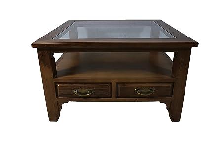 Mesa de centro madera de castaño