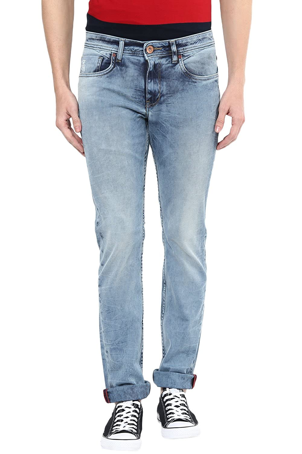 New styles!! 50% off Or Off More Off On Men's Clothing By Amazon | SF Jeans by Pantaloons Men's Cotton Lycra Jeans @ Rs.999