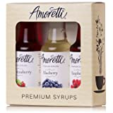 Amoretti Premium Berry Syrups 50ml 3 Pack (Wild Strawberry, Blueberry, Raspberry) (Tamaño: 50ml 3 Pack)