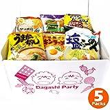 Japanese Instant Noodles Ramen Variety BOX tonkotsu(poke bone), soy sauce, miso, salt (5 Packs)
