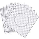 Maxdot 5 mm Large Square Fuse Beads Boards Clear Plastic Pegboards for Kids Craft Beads (9)