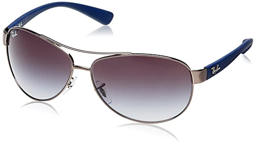 ray ban sunglasses blue aviator  Ray-Ban Aviator Sunglasses (Blue and Ruthenium) (RB3386