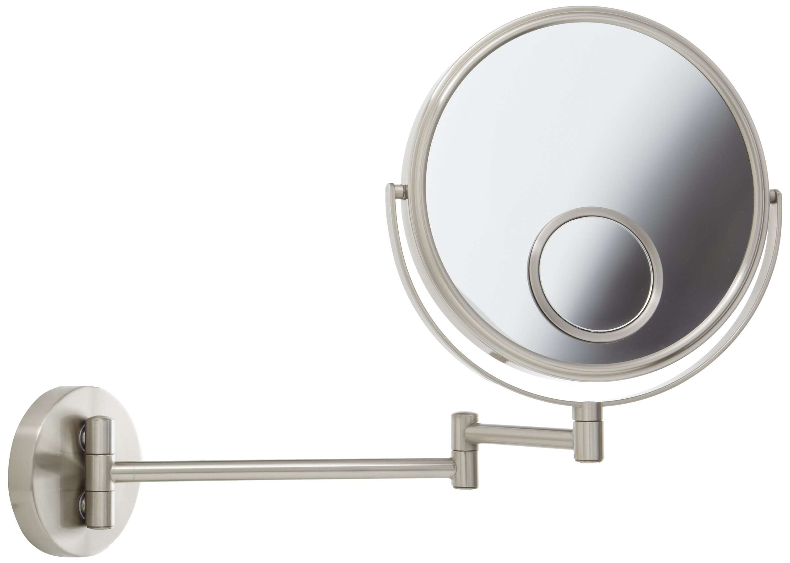 jerdon 8 inch wall mount makeup round mirror with 10x 15x magnification new ebay. Black Bedroom Furniture Sets. Home Design Ideas