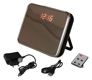 HD Spy Cam Wecker Uhr Glas Bewegungsmelder  spion remote Micro SD schwarz  BaumarktKundenbewertung und weitere Informationen