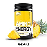OPTIMUM NUTRITION ESSENTIAL AMINO ENERGY, Pineapple, Preworkout and Essential Amino Acids with Green Tea and Green Coffee Extract, 30 Servings (Color: Pineapple, Tamaño: 30 Servings)