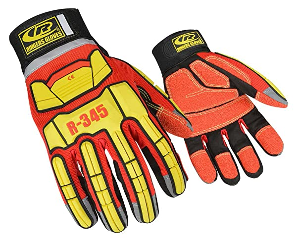 Ringers Gloves 345 Rescue Gloves, Firefighter Extrication Gloves, XX-Large (Color: Red, Tamaño: XX-Large)