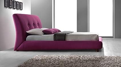 Designer Italian Style Ruby Red Fabric Upholstered 5ft King Size Modern Design Bed Frame