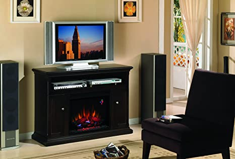 "ClassicFlame 23MM378-E451 Cannes TV Stand for TVs up to 50"", Espresso (Electric Fireplace Insert sold separately)"