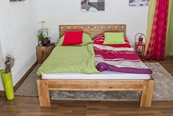 Youth Bed Wooden Nature 82, solid wild oak, oiled - 140 x 200 cm