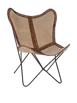 Fauteuil Lounge cuir et tissu - 57508 - Vendu par Canapé-en-ligne