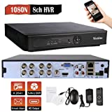 Westshine 8CH 1080N AHD/TVI/CVI/Analog/IP Hybrid DVR, H.264 HD 1920x1080P Realtime CCTV Digital Video Recorder, Support Onvif, HDMI, Motion Detection, Email Alert(NO HDD) (Color: Black, Tamaño: 8CH)