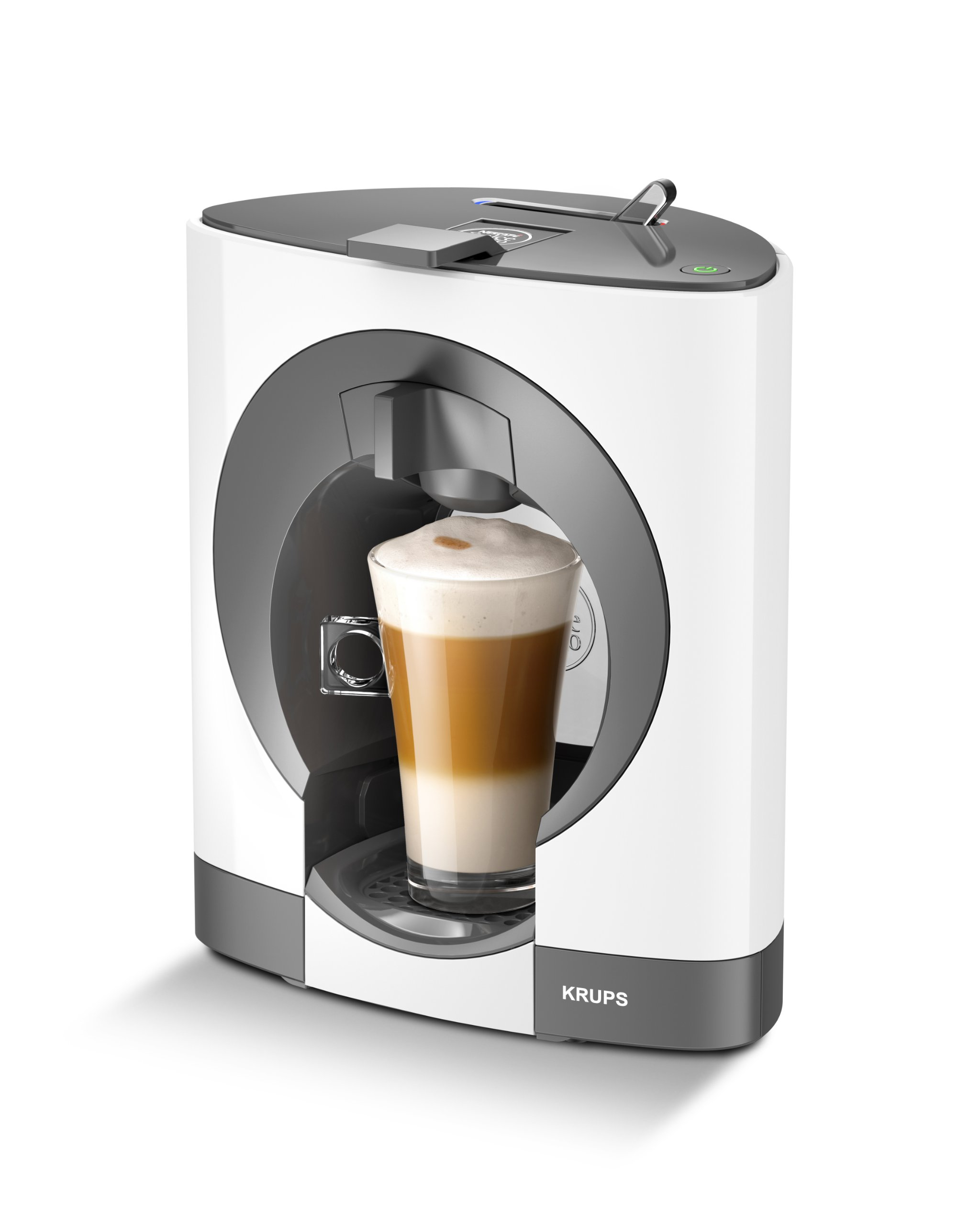 brand new nescafe dolce gusto oblo coffee capsule machine by krups white ebay. Black Bedroom Furniture Sets. Home Design Ideas