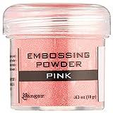 Ranger Embossing Powder, 0.63-Ounce Jar, Pink (Color: Pink, Tamaño: 1 oz)