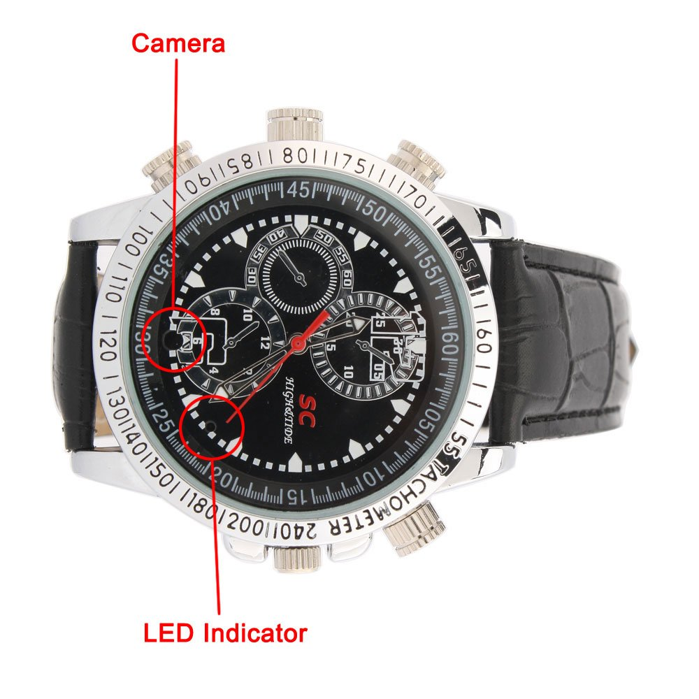 Đồng Hồ Camera 6GB, 8GB16GB Mini Stylish Mens Video Watch -Mua hàng Mỹ tại e24