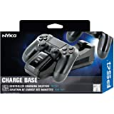 Nyko Charge Base - PlayStation 4 with a Modern and Simple Drop and Charge Design, Dual Patented Dongle Charging Port, Includes a USB and Wall Mount for Super Fast Charging of PS4, PS4 Pro and PS4 Slim Controllers (Tamaño: samsung)