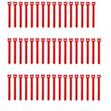 Pasow 50pcs Reusable Fastening Adjustable Cable Ties Wire Management (6 Inch, Red) (Color: Red, Tamaño: 6 Inch)