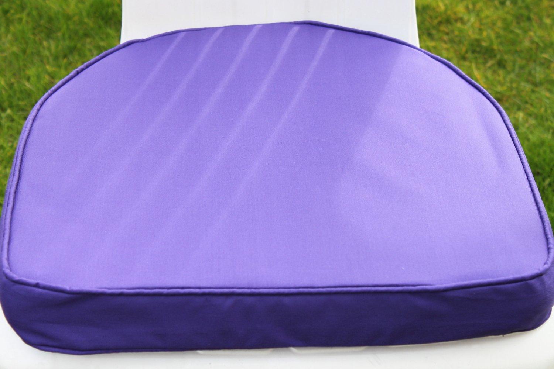 Gartenmöbel-Auflage D-Kissen – Auflagekissen für Gartenstuhl aus Kunststoff in Violett jetzt bestellen