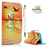 iPod Touch 6 Case, iPod Touch 5 Wallet Case - Mavis's Diary Premium PU Leather with Magnetic Clasp Card Holders Flip Cover for Apple iPod Touch 5th & 6th Generation - Never Stop Dreaming (Color: Never Stop Dreaming)