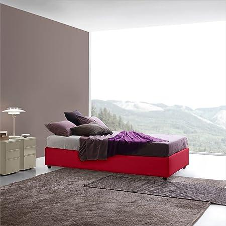 Somieres SARARREDA-cama individual y medio de almacenaje con relleno y funda de cuero-Made in Italy