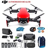DJI Mavic Air Fly More Combo Drone - Quadcopter with 32gb SD Card - 4K Professional Camera Gimbal – 3 Battery Bundle - Kit - with Must Have Accessories (Flaming Red) (Color: Flaming Red)