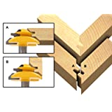 Yonico 15127 Medium Lock Miter Router Bit with 45-Degree 3/4-Inch Stock 1/2-Inch Shank