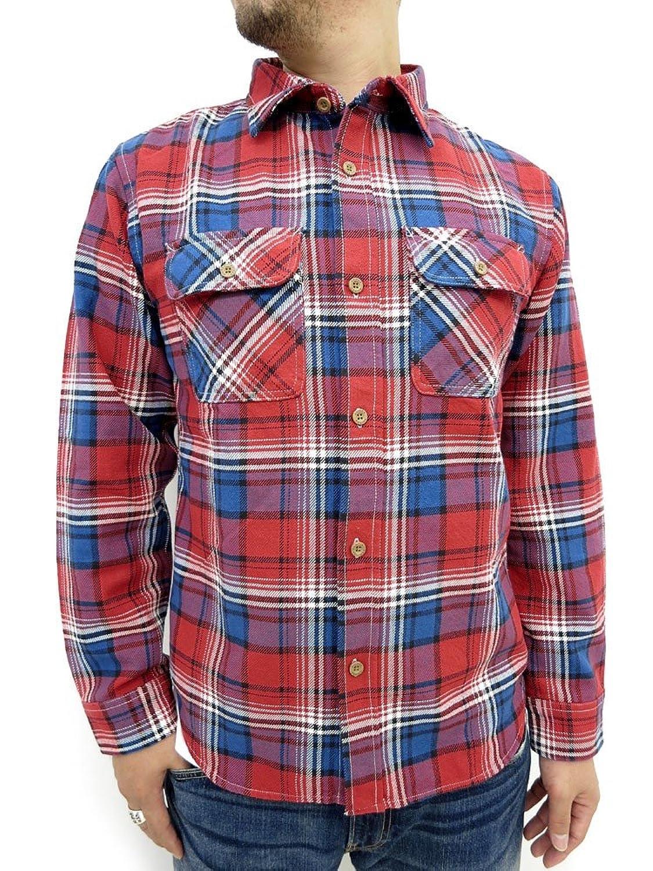 Amazon.co.jp: (アヴィレックス) AVIREX フランネル チェック 長袖 シャツ メンズ: 服&ファッション小物通販