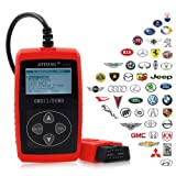 ATDIAG Car obd2 code reader, AT330 OBDII/EOBD Auto Scanner Read Live Data and Clear Error code,Car Engine Fault Code Reader CAN Diagnostic Scan Tool