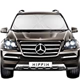 Hippih Decor Car Windshield Sun Shade with 2 Ears - Auto Universal Car Sunshade to Keep Your Vehicle Cool, Blocks UV Rays Sun Visor Protector, Fits Windshields of Various Size (Large 63 x31 inches) (Tamaño: Large 63