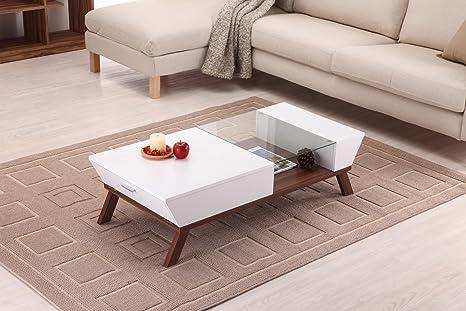 White Konway Ultra-Modern Coffee Table