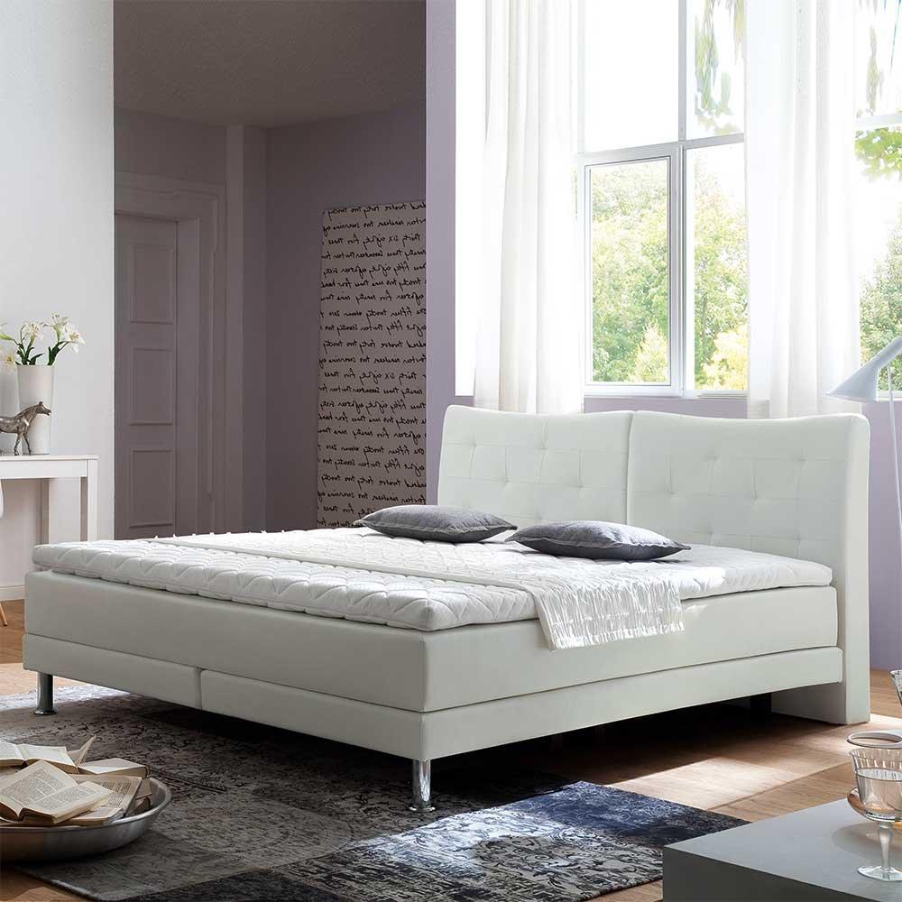 Boxbett in Weiß Topper (3-teilig) Breite 182 cm Liegefläche 180×200 Pharao24 jetzt kaufen