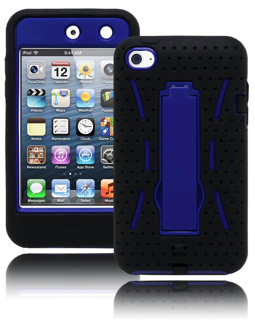 Bastex Hybrid Case Cover for Apple Ipod touch 4 - Durable Kickstand