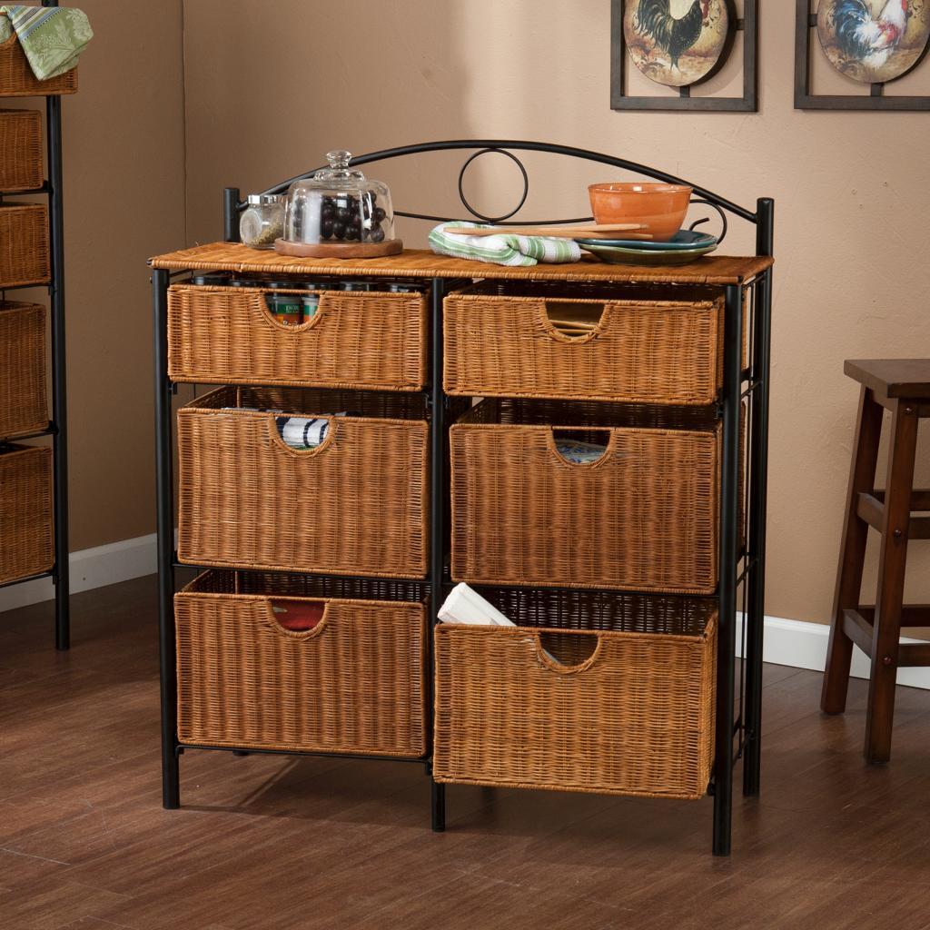 Amazon Com Sei Iron Wicker Storage Chest Furniture Amp Decor