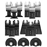 Oscillating Saw Blades 15 PC Multitool Blades Metal Wood Plastic Cutting Saw Blade Fit Dewalt Milwaukee Porter Cable Chicago Rockwell Fein Bosch Multimaster Ryobi Makita and More