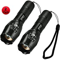 2-Pack Gosund T6 Water Resistant Zoomable LED Flashlights