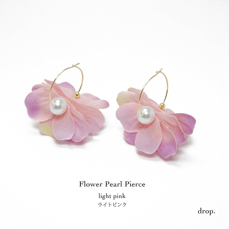 drop.フラワーピアス(ライトピンク)