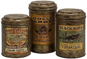 Vintage Label Canisters
