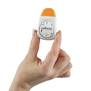 Levana Oma Clip-On Portable Baby Movement Monitor with Audible Alarm, White/Orange