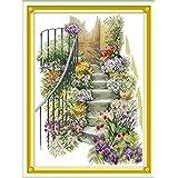 Joy Sunday Cross Stitch Kits 11CT Stamped Flower Stairs 16.5