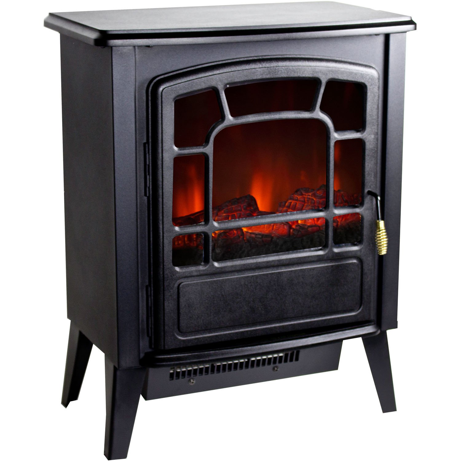 new portable floor standing electric fireplace retro